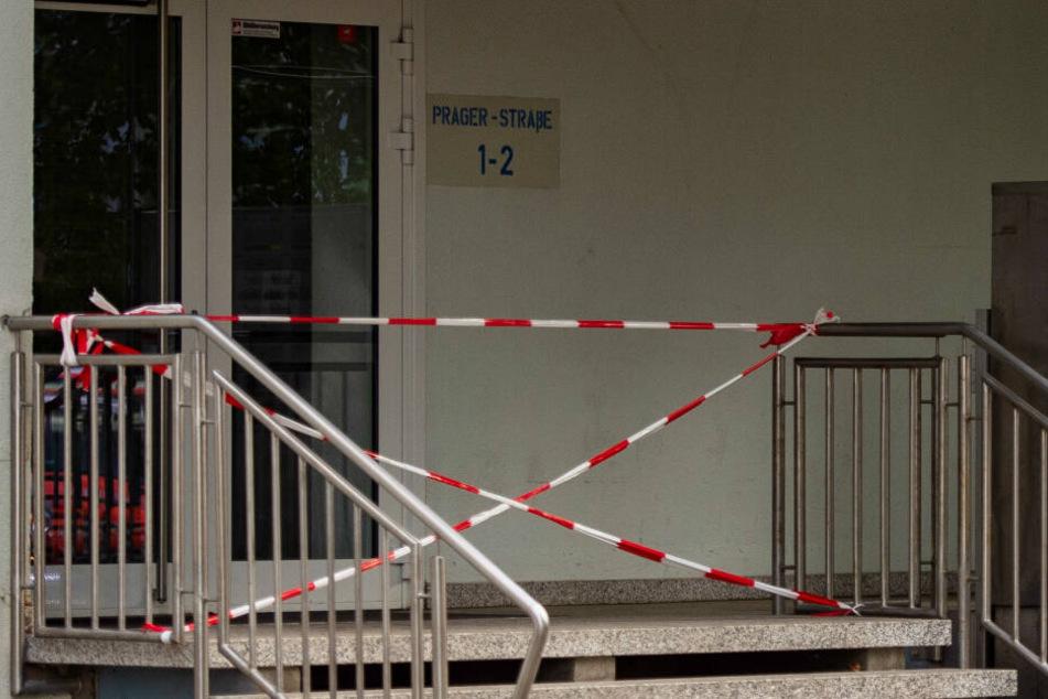 Die Verstorbene wurde in einem Haus in der Prager Straße in Erfurt gefunden.