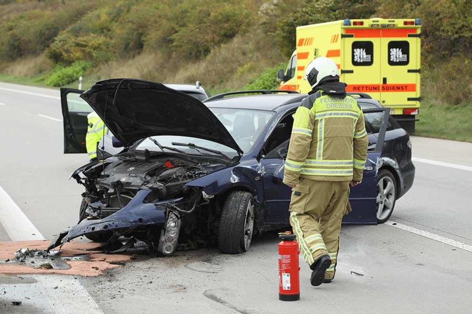 Der Mazda wurde schwer beschädigt.