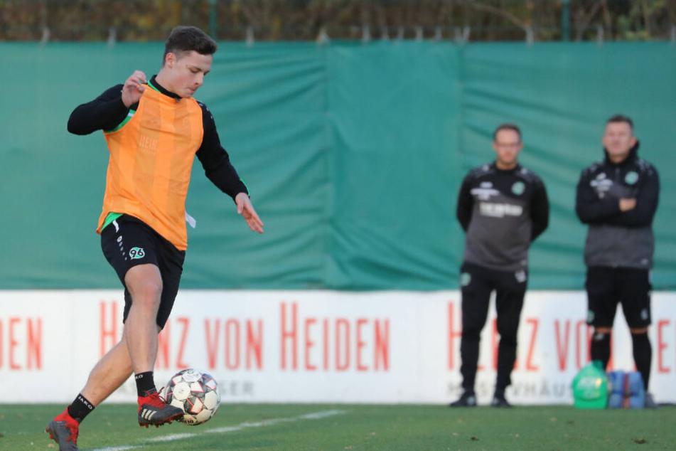 Luca Beckenbauer spielt für die U19 von Hannover 96.