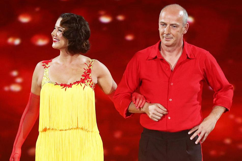 """Basler und seine Ex-Freundin Doris Büld tanzten 2015 bei der Tanzshow """"Stepping Out"""" mit. Basler musste aber wegen Rückenproblemen die Show verlassen."""