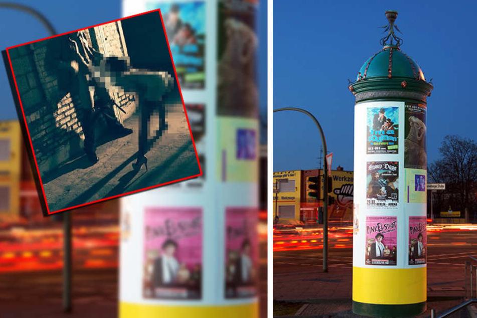 Schnappschuss: Paar hat Oralsex mitten auf der Straße in Berlin