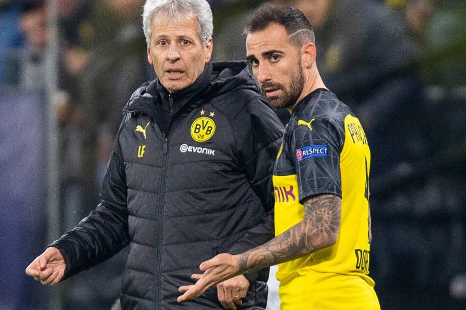 Trainer Favre und sein einziger echter Stürmer Paco Alcacer. Kommt im Winter mit Mario Mandzukic noch einer dazu?