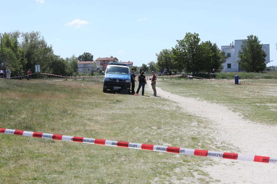 Ein Abschnitt des Oststrands wurde von der Polizei abgesperrt.