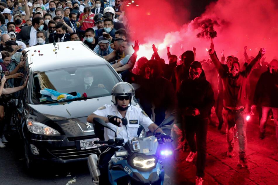 Fußball-Legende Diego Maradona beigesetzt: Sie kamen zu Tausenden