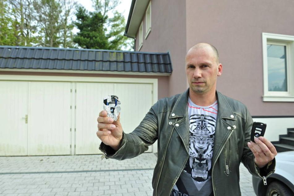 Frank Bauer (40) ist sauer: Schon wieder wurde sein Luxus-BMW direkt vorm Haus geklaut.