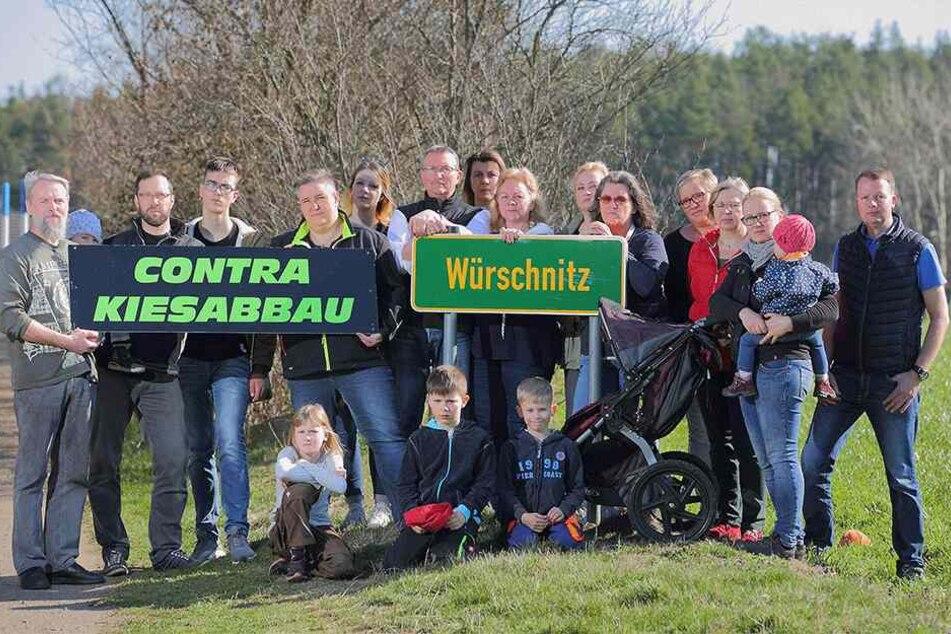 Eine Bürgerinitiative macht mobil gegen die Pläne des Kiessandtagebaus Würschnitz-West.