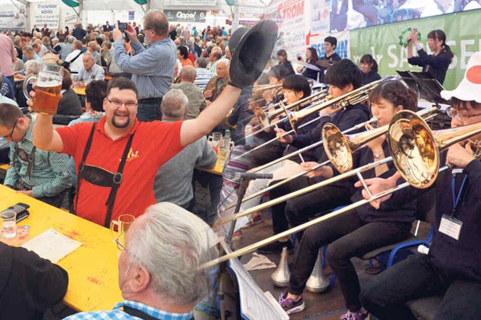 14 Blaskapellen aus elf europäischen Ländern mit insgesamt 700 Musikern spielen auf.