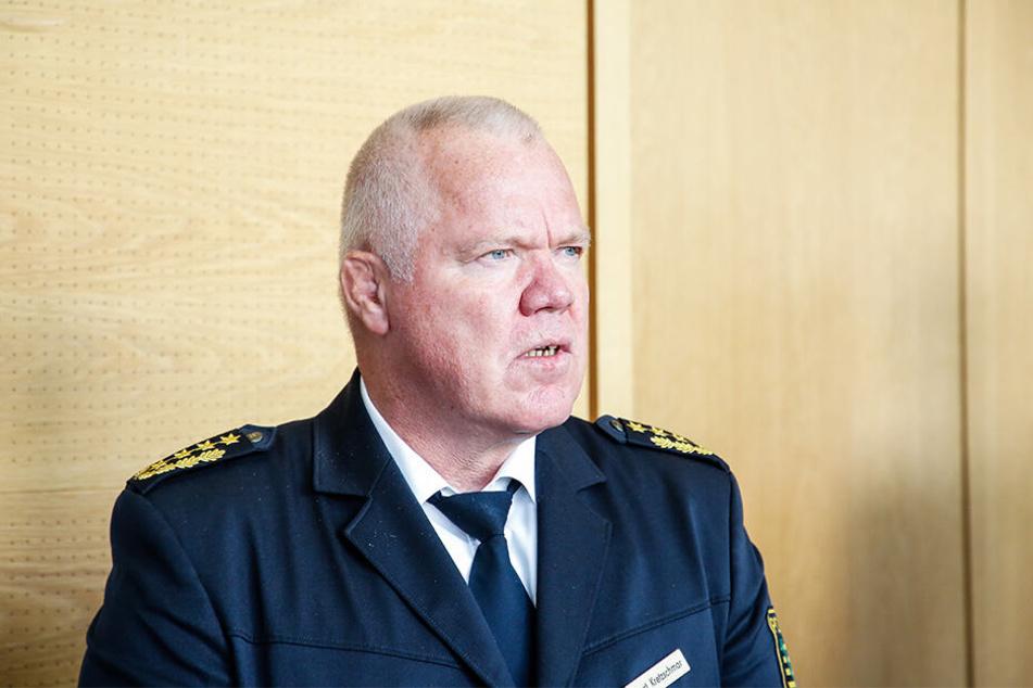 Landespolizeipräsident Horst Kretzschmar (59) war ebenfalls vor Ort.
