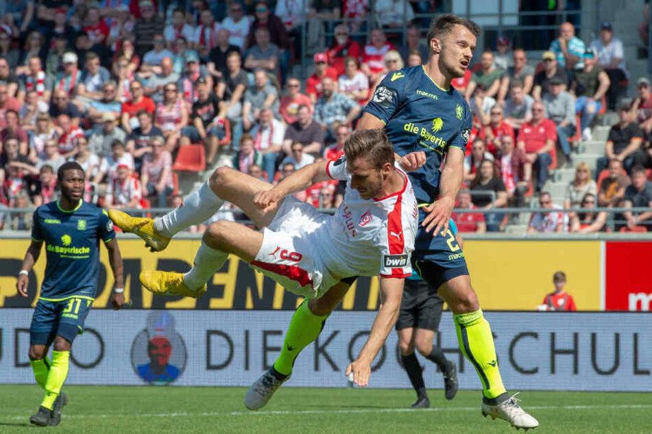 Der TSV 1860 München fand nie wirklich ins Spiel. Der HFC dominierte die Partie.