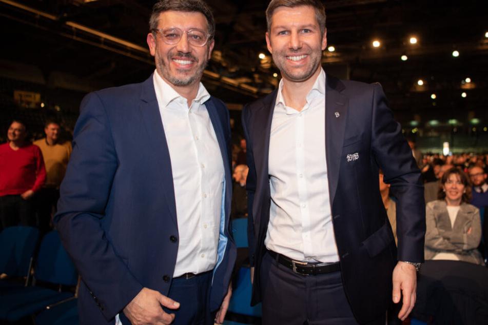 Der neue Präsident Claus Vogt (links im Bild) und der Vorstandsvorsitzende Thomas Hitzlsperger stehen für den Neuanfang beim VfB Stuttgart.