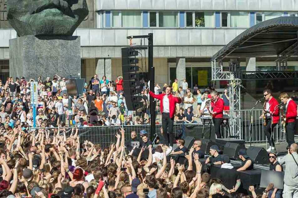"""Am 11. Juni trat die Band """"Kraftklub"""" bei """"Rock am Kopp"""" für lau auf."""