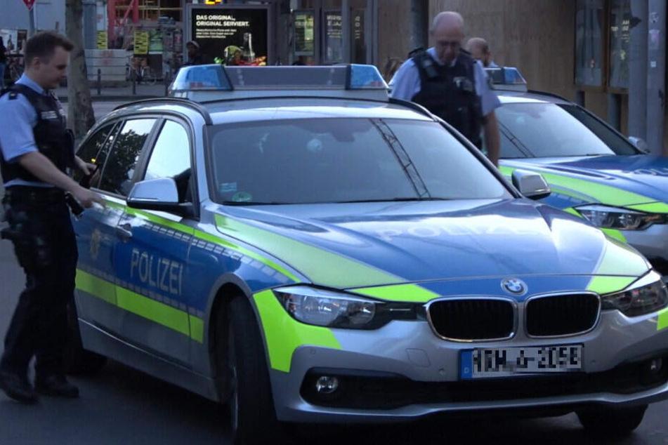 Die Polizei am Einsatzort.
