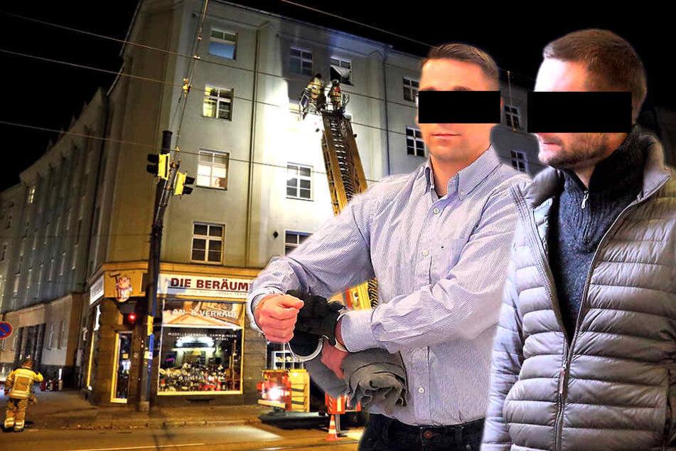 Heiko S. (35, links) löste eine Explosion in seiner Wohnung aus. Marcus K. (33) war bei seinem Kumpel, als alles in die Luft flog.