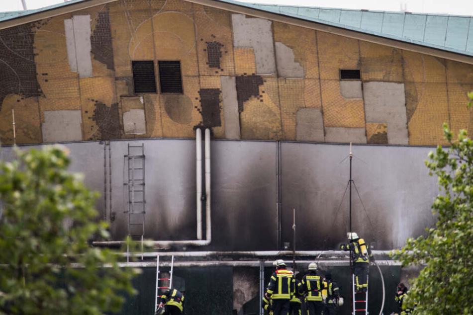In der Dachkonstruktion brach das Feuer aus.