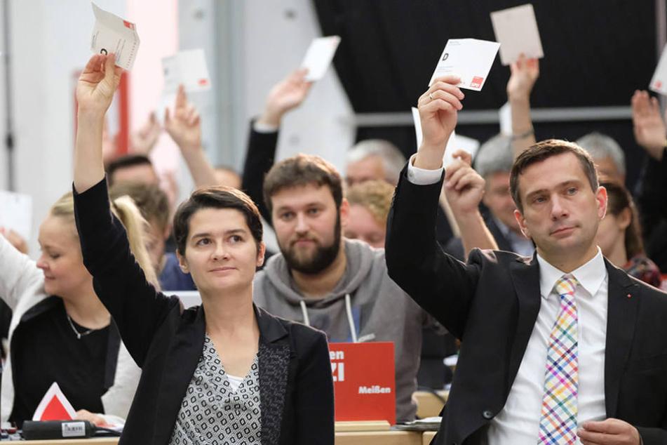 Am Samstag stimmten die SPD-Delegierten über ihre Parteispitze ab.