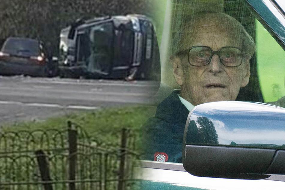 Er saß am Steuer! Queen-Gemahl Prinz Philip (97) in Unfall verwickelt
