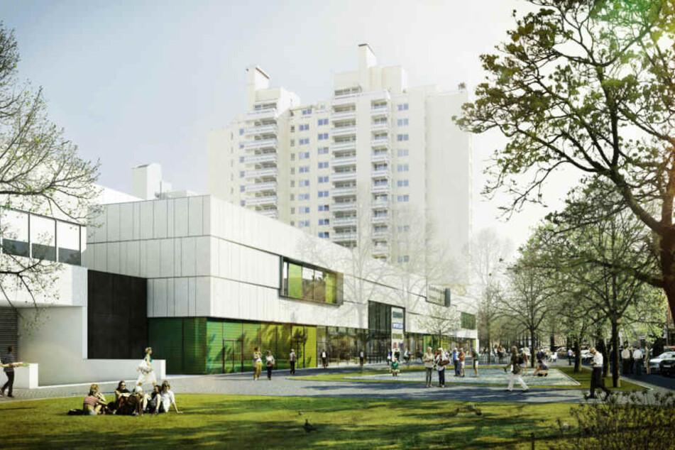 So soll das neue Einkaufszentrum auf der Schwanthalerhöhe aussehen. (Digitale Darstellung)