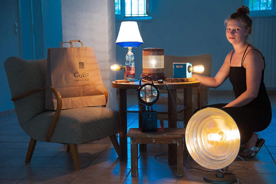 Designerin macht aus Müll Lampen