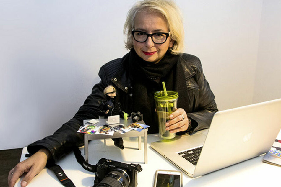 Die Fotografin Kroll-Holtmann hat auch eine Barbie-Version von sich selbst.