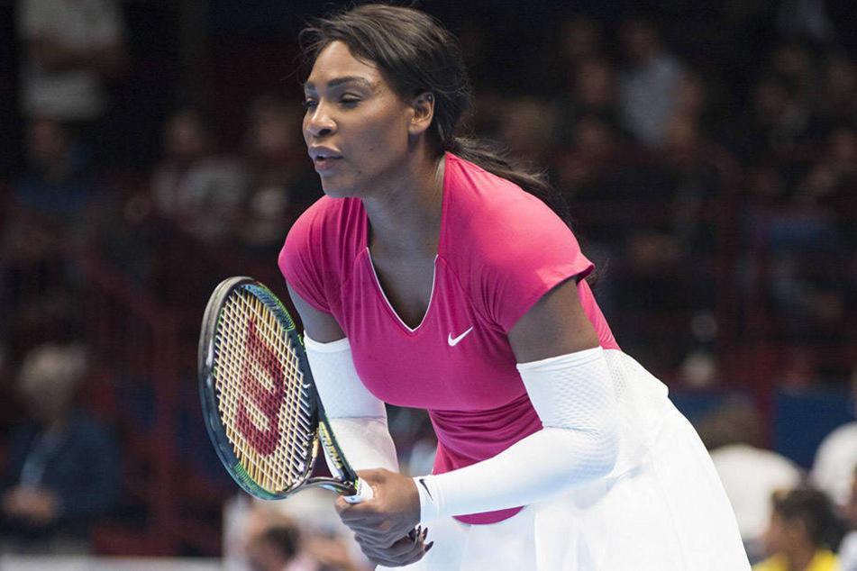 Serena Williams (35) auf dem Tennis-Feld.