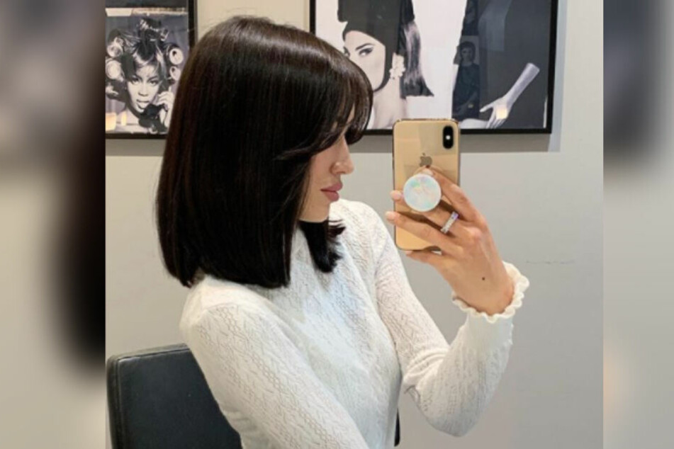 Hanna Weig zeigt ihren Fans die neue Frisur.