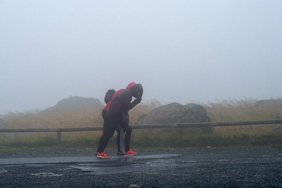 Auf dem Brocken im Harz erreichte der Sturm Orkanstärke.