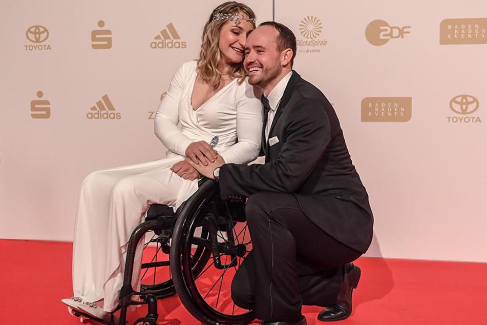 Kristina Vogel mit ihrem Lebensgefährten Michael Seidenbrecher.