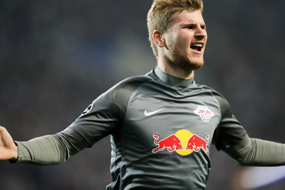 Timo muss es reißen! Nur 138 Sekunden nach seiner Einwechslung gegen Porto traf Werner zum zwischenzeitlichen 1:1.