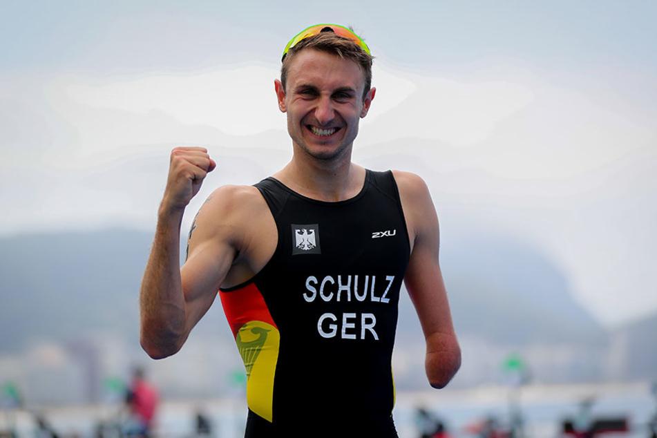Jubel nach seinem Sieg bei den Paralympics 2016: Spitzensportler Martin Schulz (27).
