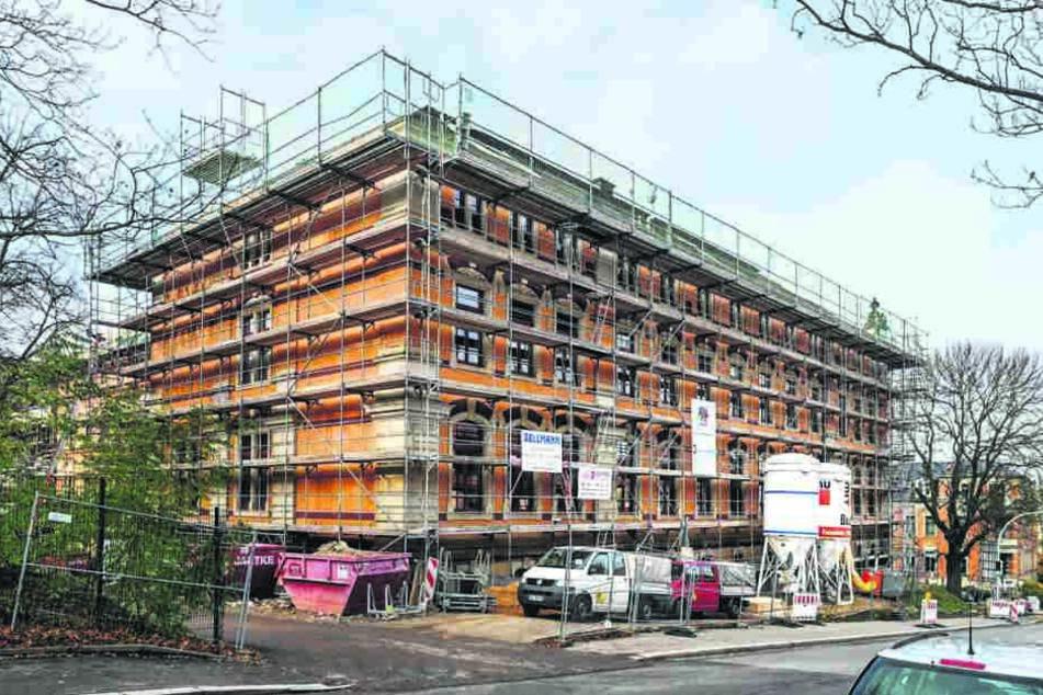 Bei der gegenwärtigen Sanierung des Gymnasiums in Dresden-Plauen spielt auch der Schutz vor Radon eine Rolle.