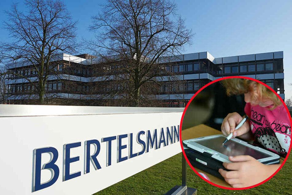 Der Großkonzern Bertelsmann spendet 600.000 Euro an Grundschulen für Tablets und Laptops.