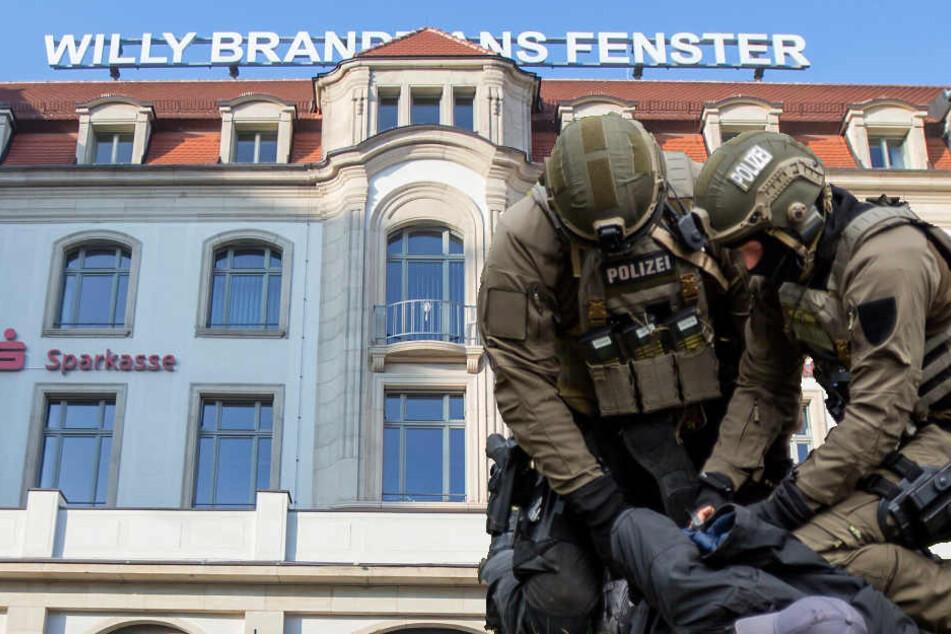 Insgesamt sechs Personen mussten die Beamten bei der wüsten Schlägerei auf dem Willy-Brandt-Platz voneinander trennen. (Symbolbild)