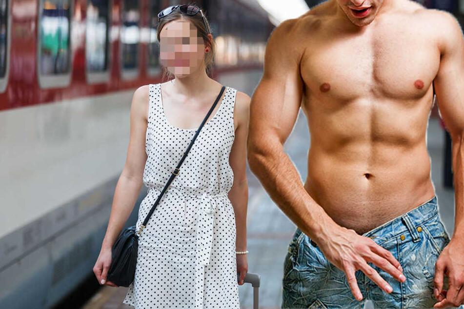 Der Mann zeigte sich der Frau (22) erst und fasste die 22-Jährige sogar noch an. (Symbolbild)