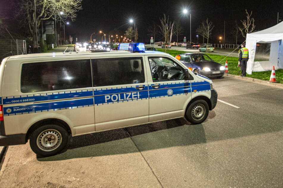 Kontrollen der Bundespolizei an der französischen Grenze in Kehl.