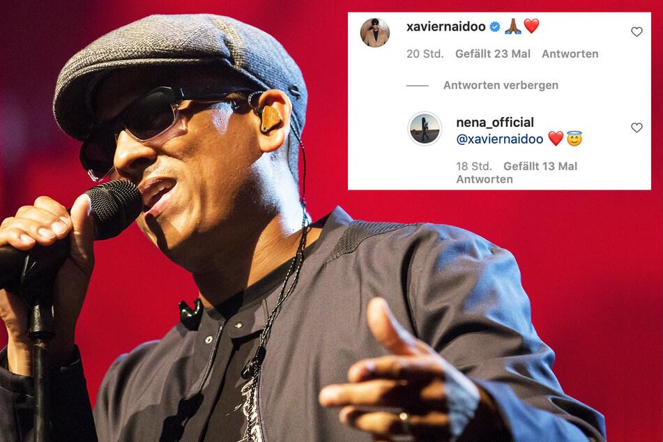 Xavier Naidoo (49) kommentierte Nenas Posting mit High-Five- und Herz-Symbol.