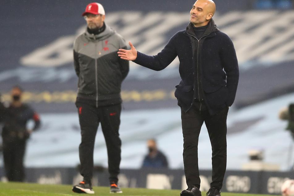 Sowohl Jürgen Klopp (53) als auch Pep Guardiola (49) sind aktuell mit ihren Teams noch nicht so recht ins Rollen gekommen.
