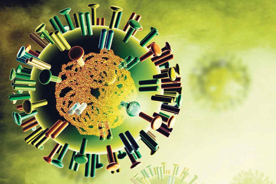 Klitzeklein, aber brandgefährlich: Das Influenza-Virus.