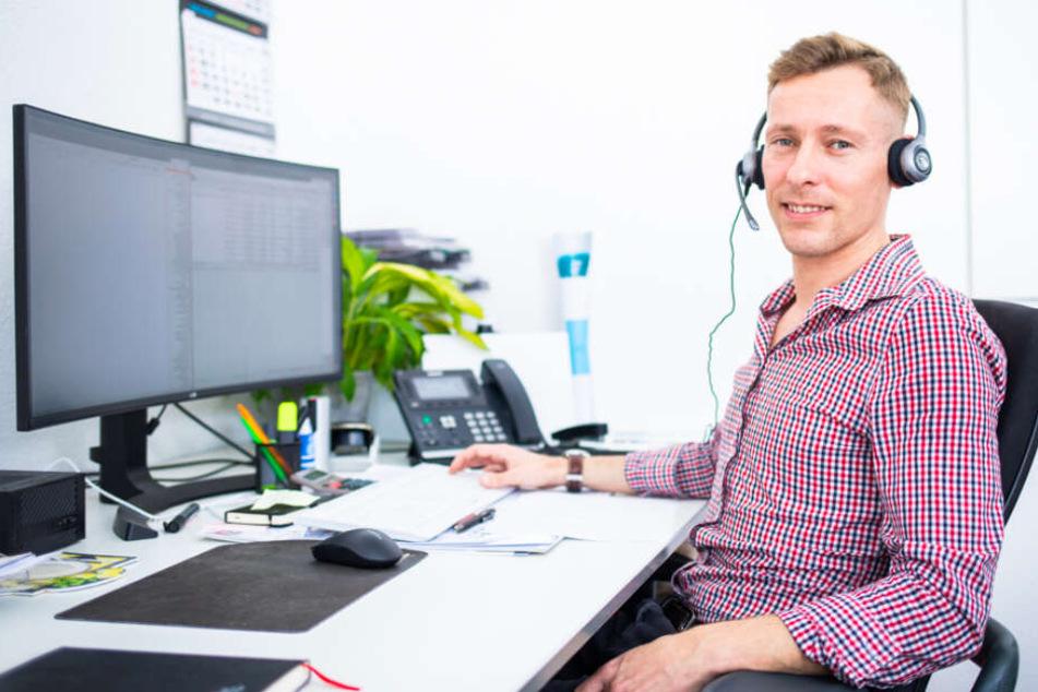 Eric Janke ist Kundenberater bei TEXSIB und freut sich auf neue Kollegen.