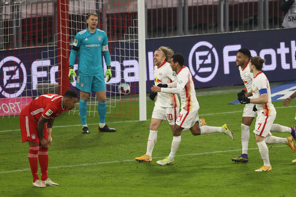 RB Leipzig gave Bayern a task in the first leg and was even able to take the lead twice.  (Archive image)