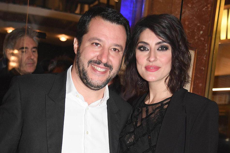 Matteo Salvini (45) und Elisa Isoardi (35)