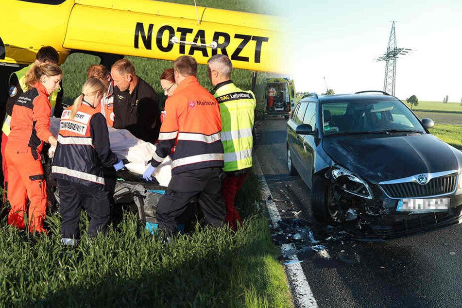 Rollerfahrer kracht frontal in Skoda und wird schwer verletzt