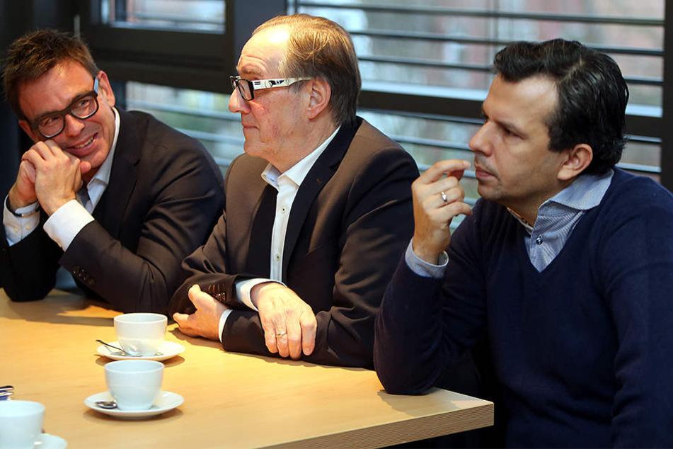 Markus Rejek, Hans-Jürgen Laufer und Samir Arabi (v.l.n.r.) erklärten die Situation.