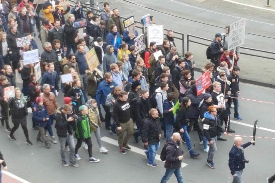 Die Artikel13-Protest-Kundgebung am 9. März in Köln.