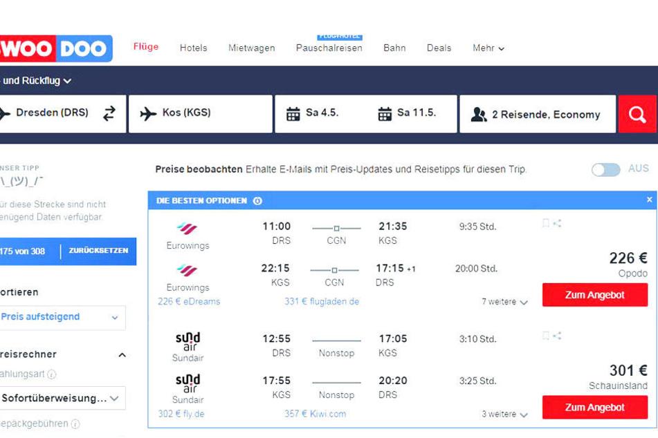 Von Dresden geht es per Direktflug nach Kos.