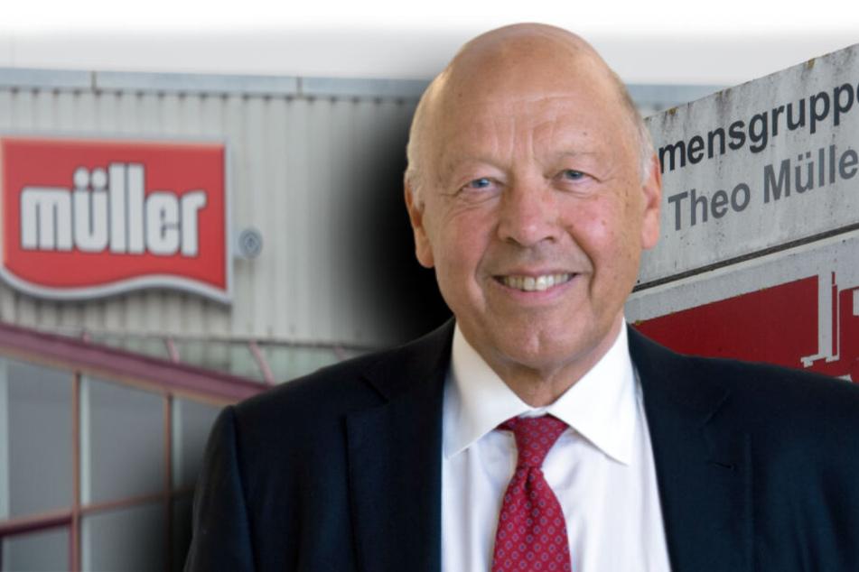Theo Müller (79) zieht sich aus dem Aufsichtsrat von Müllermilch zurück. (Bildmontage)