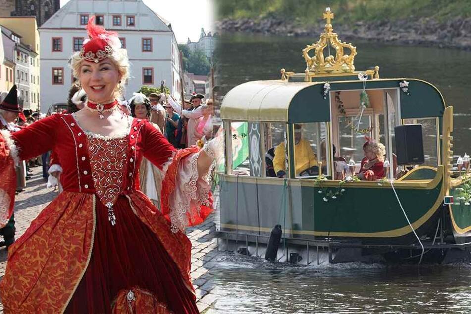 Dresden: Wie vor 300 Jahren! Hochzeitsreise mit Gondelprozession und Kutschparade