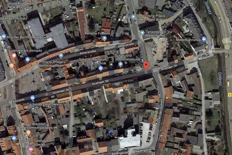In der Strehlaer Straße in Oschatz ereignete sich der Unfall.