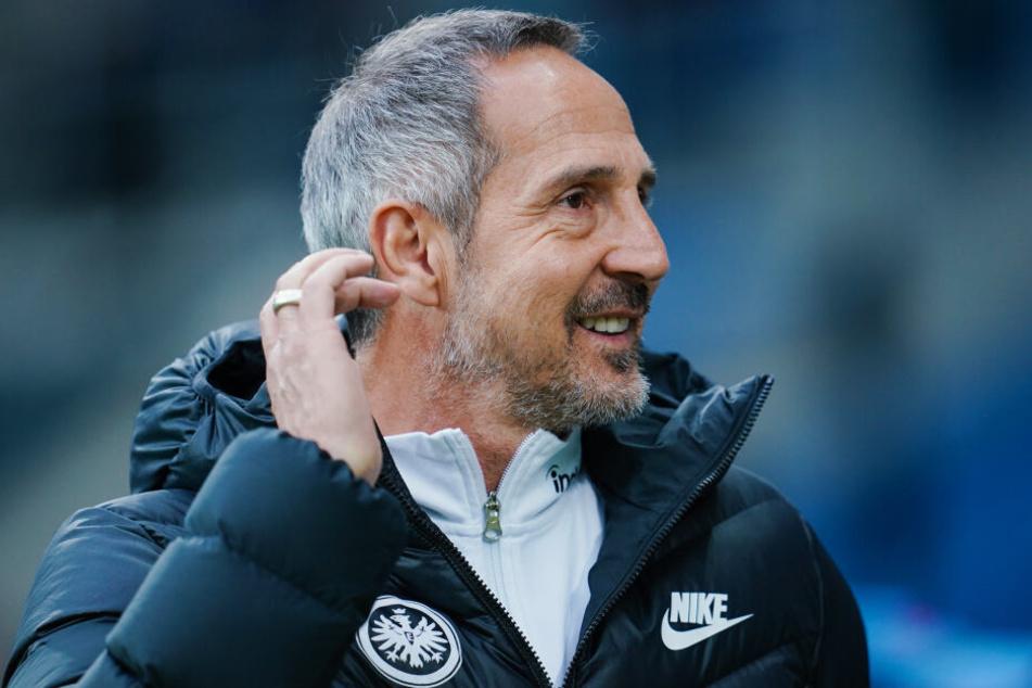 Eintracht Frankfurt-Coach Adi Hütter will auch gegen Tabellenführer Leipzig eine disziplinierte Leistung seines Teams sehen.
