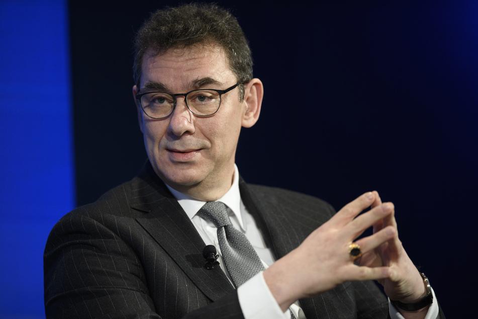 Pfizer-Chef Albert Bourla (59) beim Schweizer Weltwirtschaftsforum 2018. (Archivbild)