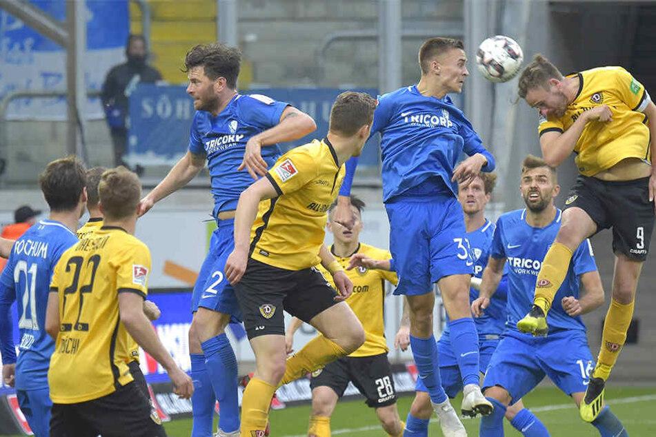 Hätte den Siegtreffer erzielen können: Joker Lucas Röser vergab die letzte Chance des Spiels, köpfte gegen Bochum in der Nachspielzeit den Ball übers Tor.